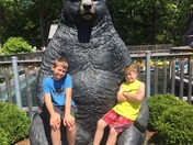 Sam and Isaac at Clark's Trading Post