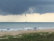 Water spout off of Atlantic Beach today around 5:20pm