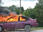 Vehicle fire west bound Dodge Expressway around 3:40pm today near Village Point