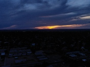 AERIAL VIEW OF ANOTHER STUNNING SUNSET OVER SE ABQ !!!