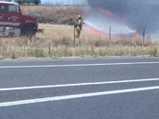 Grass fire 99 south bound!