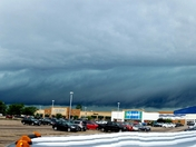 Storm moving over Mason, OH approaching Loveland, OH.