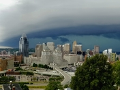Storm rolling into downtown