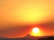 Sunset over Mt. Cabezon