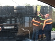 Wreck on I-10 at Louisiana state line
