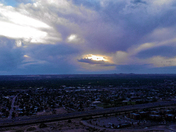 LAST NIGHTS AMAZING SUNSET DURING THE ISOTOPES BB GAME