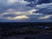 AERIAL DRONE VIEW OF THE SUNSET RAIN & ISOTOPES BB GAME @ 350 FEET ALTITUDE !!