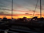 Sunrise over Snug Harbor