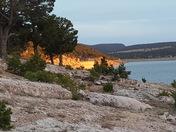 Sunset at Bluewater Lake Dam.