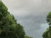 A crazy lightening storm in slow motion and there is a strange project flying in the storm