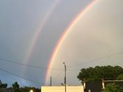Double rainbow taken Sunday evening in Davie County.  - Rene Dulin