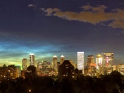 Noctilucent clouds over Calgary
