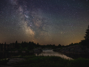 Pinawa Dam Milky Way