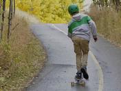 Skateboarding in a Calgary Autumn