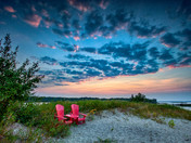 Red Chair Sunset