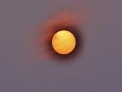 That strange sun yesterday...
