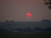 a smoky sunset