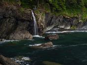 Waterfall near Sambrio Beach along the Juan de Fuca Trail