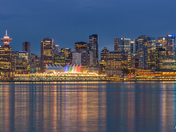 Vancouver Skyline at Blue Hour