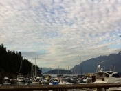 Mottled Clouds Above The Bay