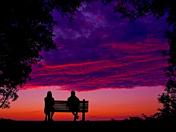 Enjoying the Beautiful Sunset Clouds scenery at Ottawa Britannia Beach area
