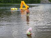 Kids at the beach camp