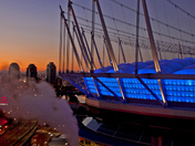 The BC Place Stadium  of Vancouver at Dawn, Vancouver Downtown, BC