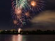 Fireworks over Wascana Lake