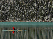 Winter Sculling on Lake Louise