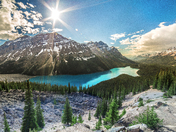 Panoramic Peyto Lake