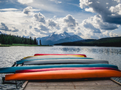 Canoes in Jasper National Park