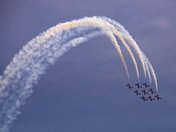 The Snowbirds display several nine-plane formation passes over the National Capital skies with awesome & excellent flight performances