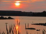 Sunset at Long Lake Provincial Park