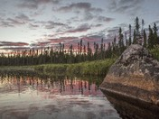 A Boreal Sunset - Le Coucher Boreal