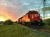 CPR Train on the Transcona Trail