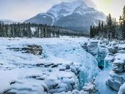 Frozen Athabasca Falls
