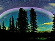 The #STEVE sub auroral Arc panorama