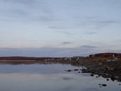 Evening view of the community of Baker Lake, Nunavut