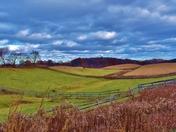Farmer's fields in the Fall.