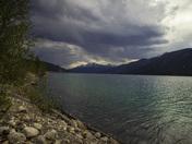 Heavy clouds at Muncho Lake, BC