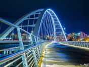 3c. Walterdale Bridge at night