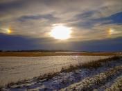 Sundog in Busby Alberta