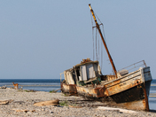 Shipwreck at the Western tip of Anticosti