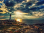 Peggys Cove after the storm