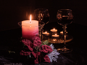 Candle Light and Wine