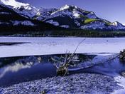 Log in Frozen Barrier Lake