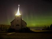 A Rural Church Aurora