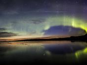 Northern Lights at Porter Lake, Saskatchewan
