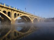 Reflected Saskatoon Bridge