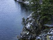 Winter Cliff on Lake Okanagan